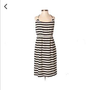 J. Crew Casual Black/White Striped Dress Size 6